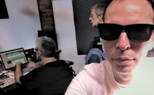 The core production team - Simon Segal, Wayne Rintoul, Dallas Cosmas preparing tracks for The Memory Keys